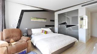 现代风格别墅装修卧室背景墙图片