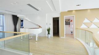 现代风格别墅装修钢琴区