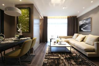 90平现代简约风设计客厅效果图