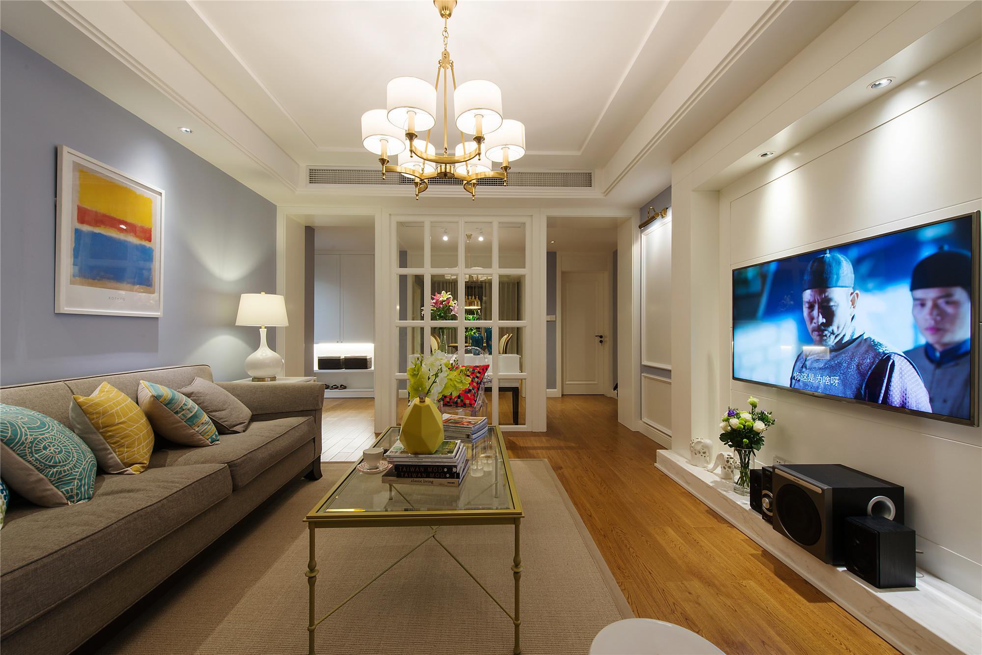 轻美式两居装修设计 清新明亮