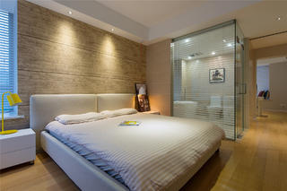 简约风格二居之家卧室背景墙图片