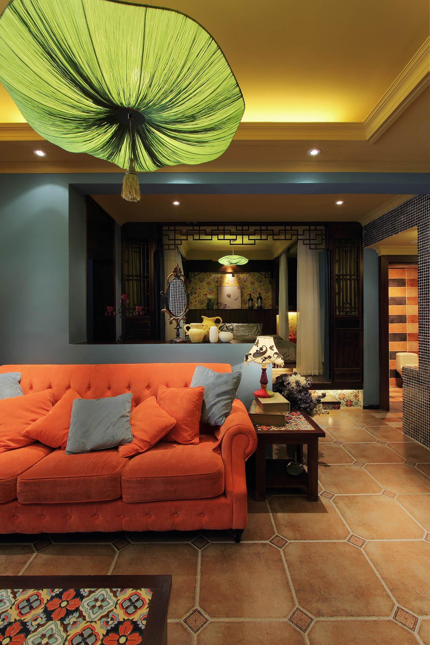 中式混搭风格家沙发图片