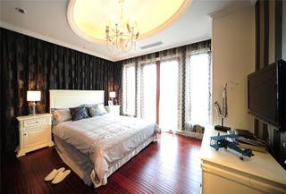美式新古典主义别墅装修次卧搭配图