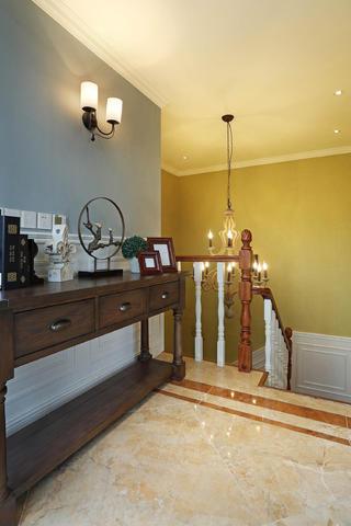 纯正美式别墅装修玄关柜图片