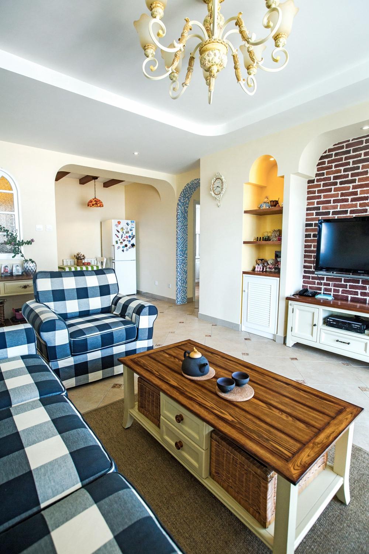 地中海田园风格家沙发图片