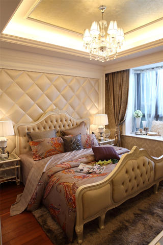 欧式公寓装修卧室效果图