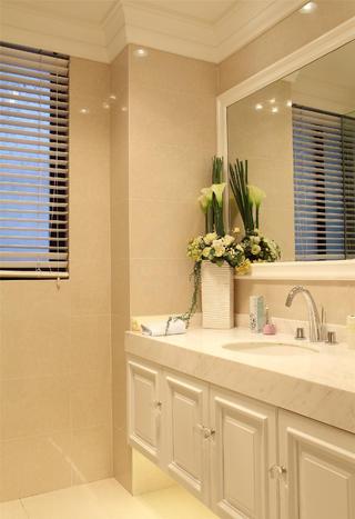 欧式公寓装修卫生间洗手台图片