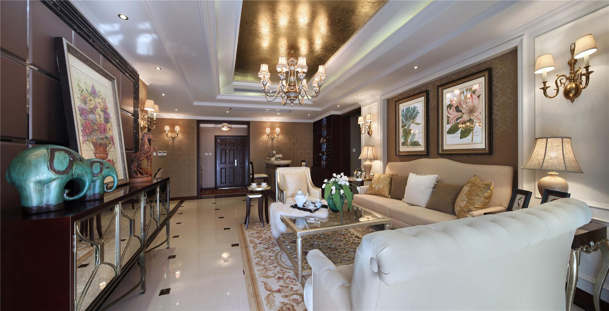 美式混搭装修客厅效果图