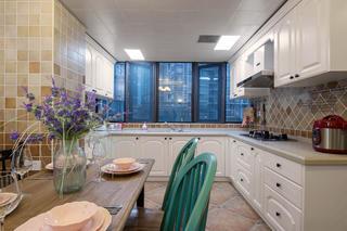 120㎡美式混搭装修厨房设计图