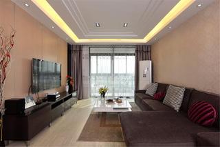 现代简约二居客厅设计图