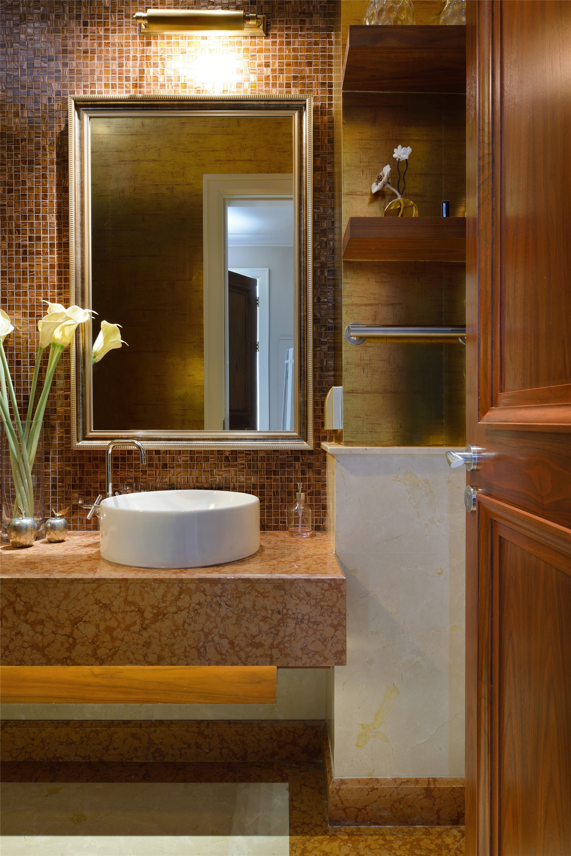 现代风格别墅装修洗手台图片