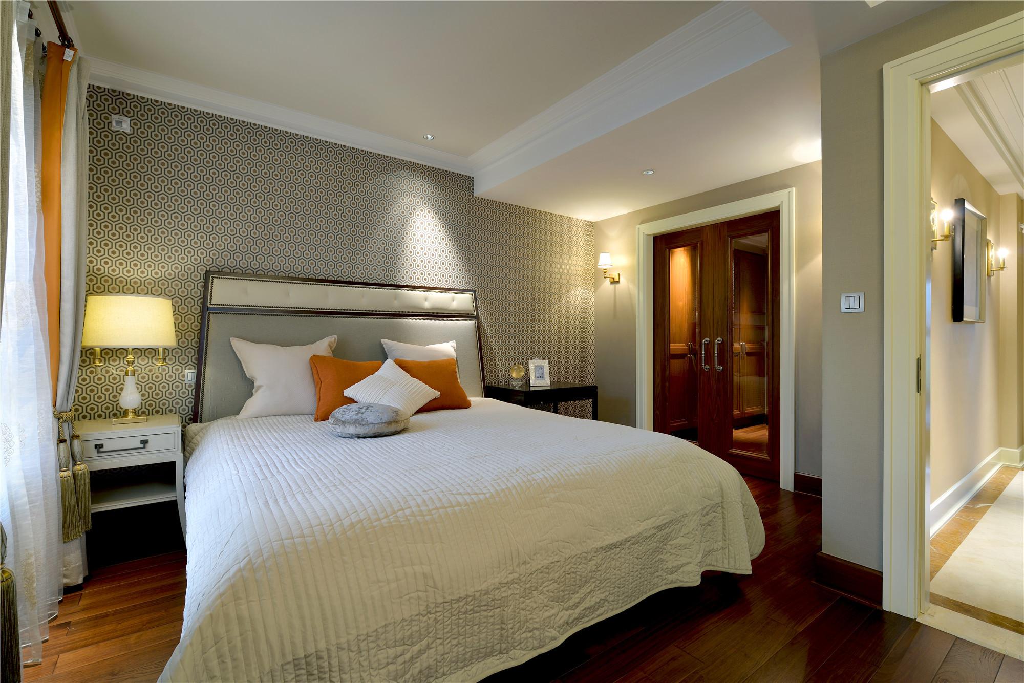 现代风格别墅装修卧室效果图