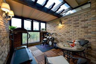现代风格别墅装修阳光房设计图