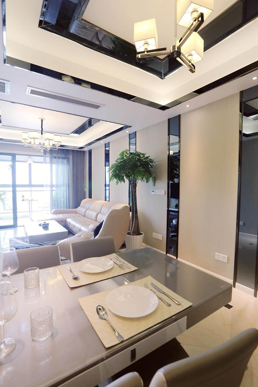 80平现代风格家餐厅吊顶