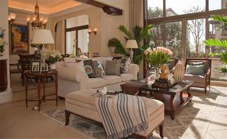 美式风别墅装修客厅布置图