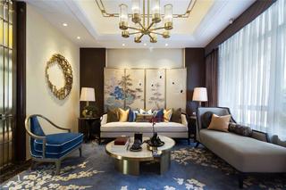 新中式别墅装修客厅搭配图