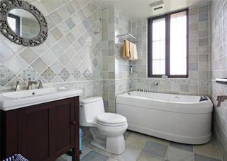 简美复式装修卫生间搭配图