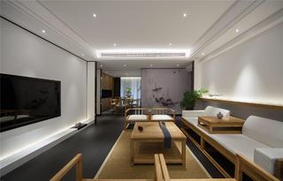 中式三居装修客餐厅布局图