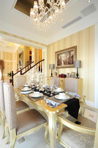 美式新古典主义别墅装修餐厅效果图