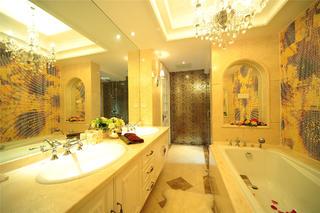 美式新古典主义别墅装修卫生间效果图