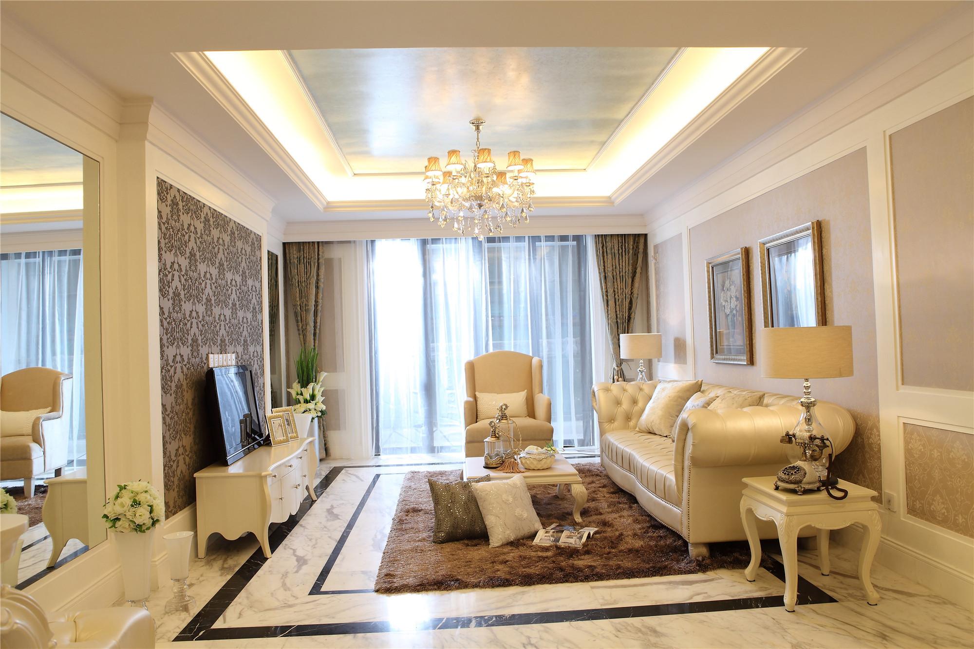欧式公寓装修客厅效果图