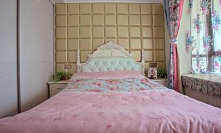 二居室简欧风格家床头软包图片