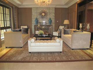 欧式别墅装修会客厅布置图