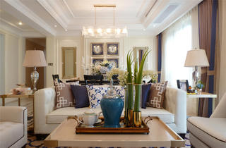 欧式奢华风装修客厅效果图