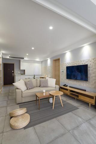 简约二居装修电视墙设计