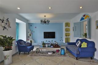 大户型地中海风格家客厅设计图