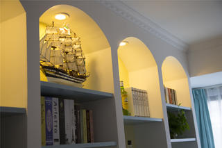 大户型地中海风格家书柜图片
