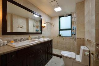 125平美式风格家卫生间设计图