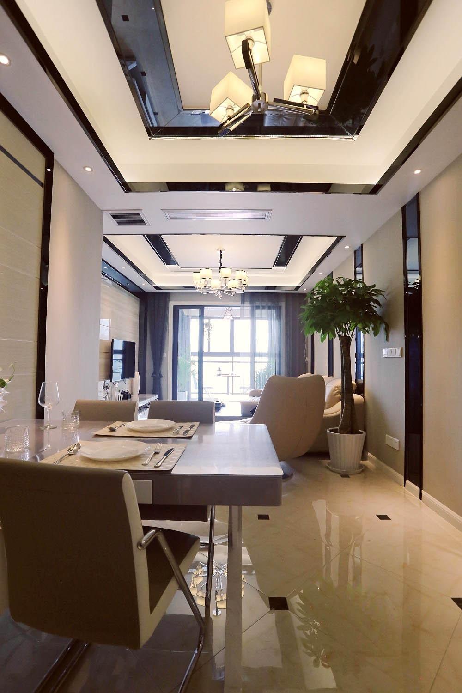 80平现代风格家餐厅设计图