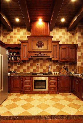 美式別墅裝修櫥柜圖片