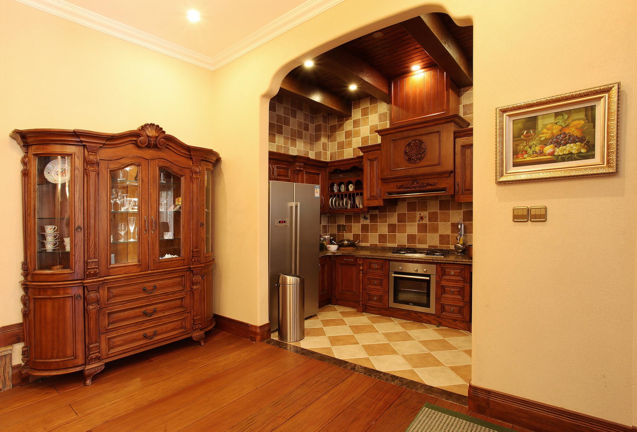 美式别墅装修厨房设计图