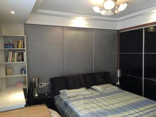 130平现代简约三居装修卧室搭配图