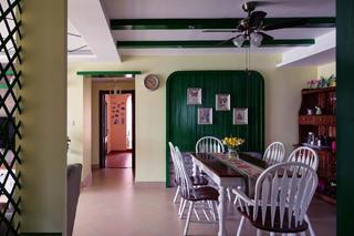 140㎡混搭风格家餐厅背景墙图片