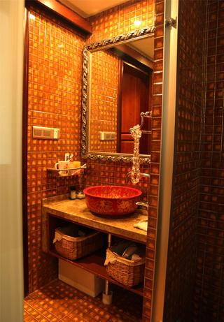 大户型中式古典装修洗手台图片