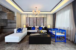 新中式三居装修客厅搭配图