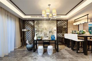 新中式三居装修书房效果图