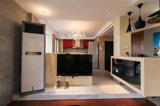80平简约风格设计电视墙隔断