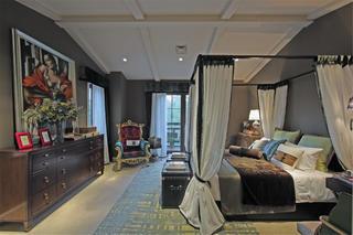 尊贵奢华欧式别墅装修卧室搭配图