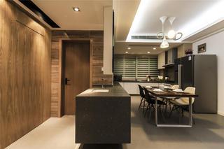 现代简约二居装修隐形门设计