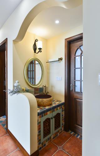 美式三居室洗手台设计