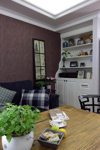 简美复式三居装修客厅一角