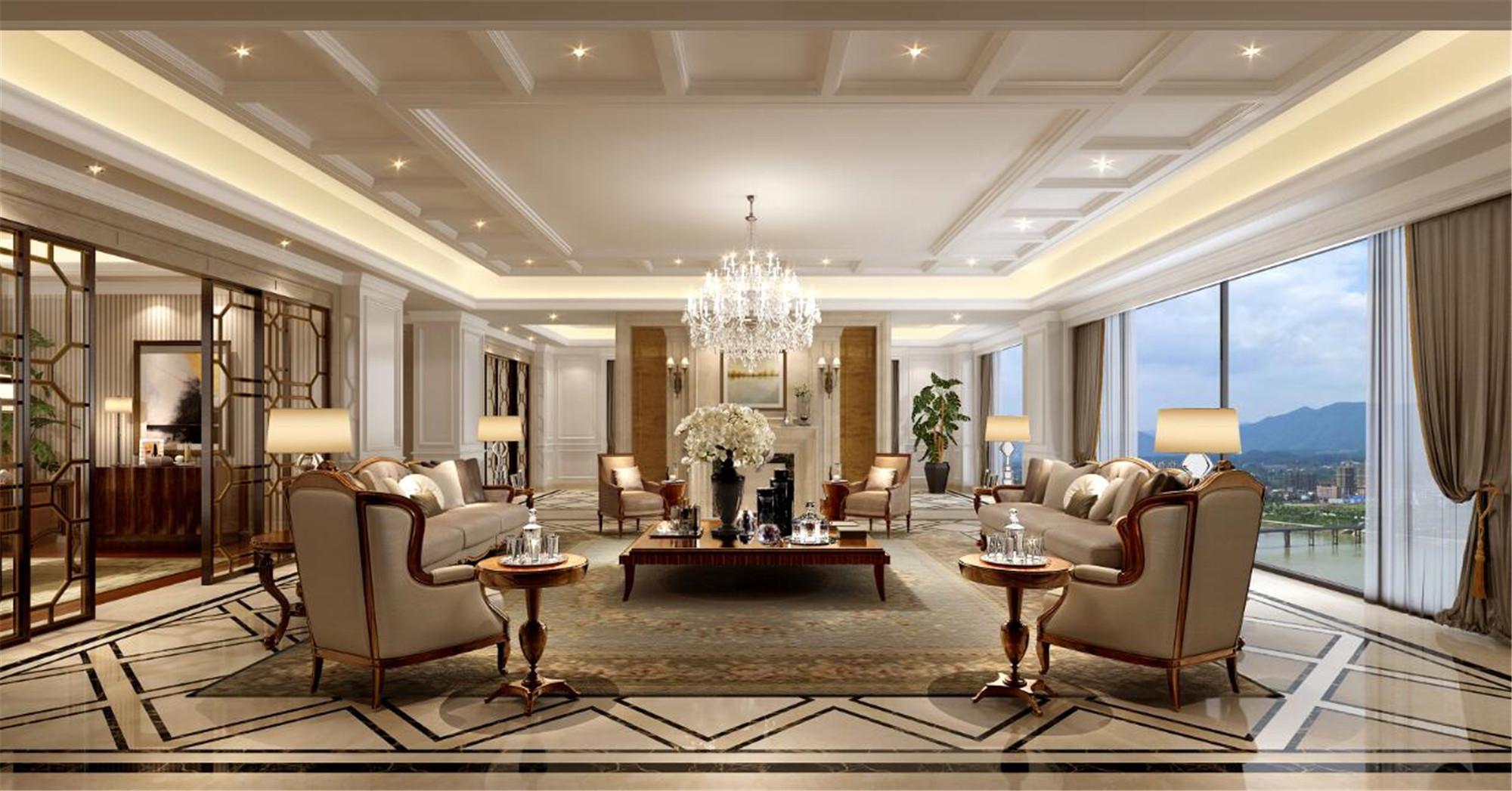 欧式别墅装修客厅设计