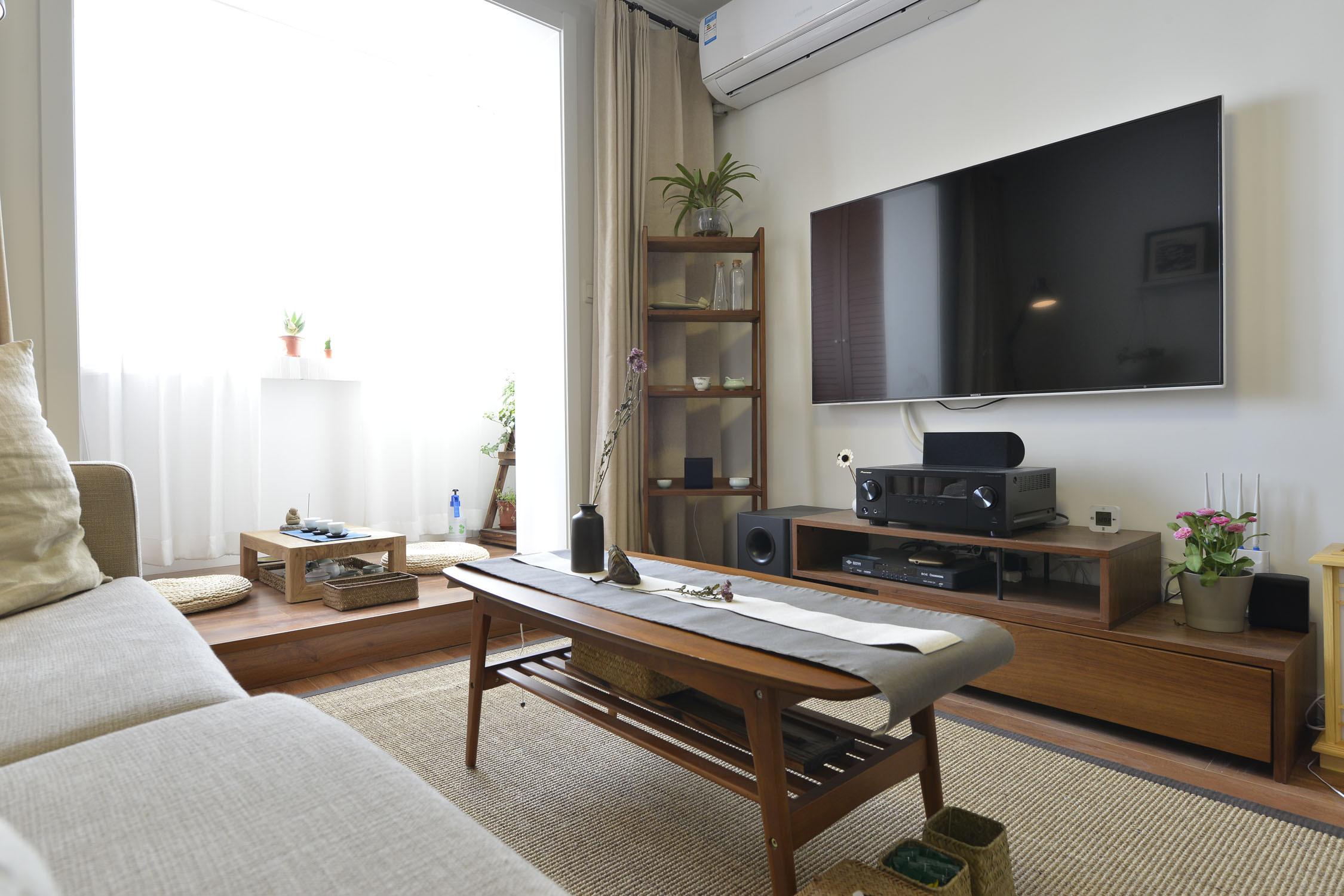小户型公寓装修电视柜图片