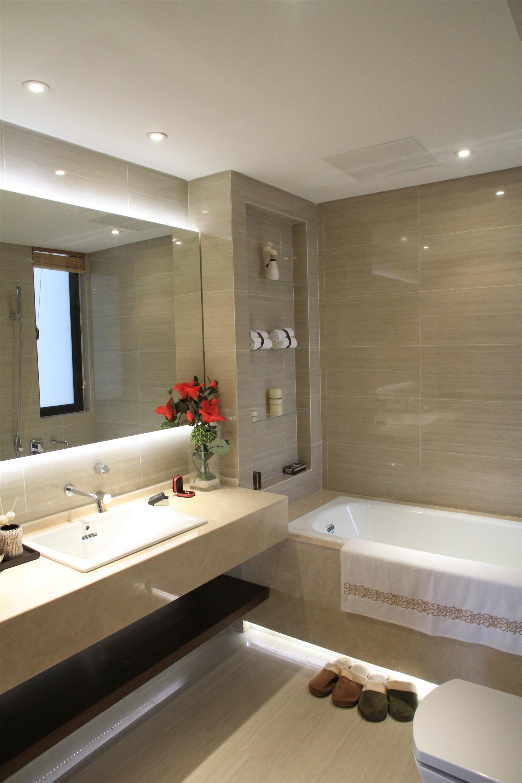 新中式三居装修设计卫生间造型图