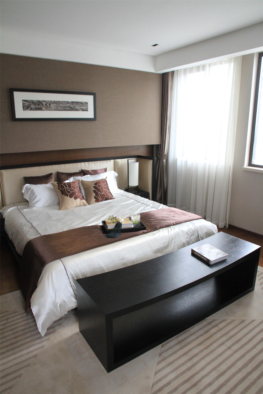 新中式三居装修设计主卧布置图