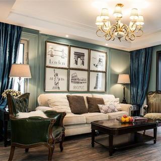 90平美式二居装修设计图